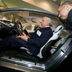 Colin Powell with the Cadillac Converj