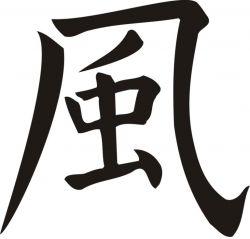 Idéogramme chinois du vent