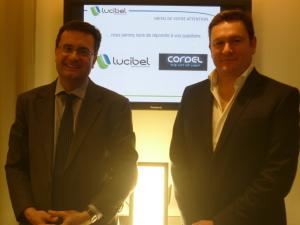 Frédéric Granotier, PDG de Lucibel et Fabien Meuvel, président de Cordel lors ont officialisé ce jeudi leur rapprochement