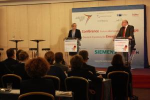 Delphine Batho et Peter Altmaier lors de la première conférence franco-allemand sur l'énergie