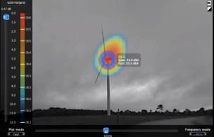 Camera acoustique Norsonic - éolien (Source : Venatech)