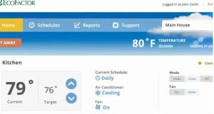 Capture d'écran de l'interface de gestion EcoFactor