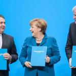 Bundeskanzlerin Angela Merkel: Unterzeichnung des Koalitionsvertrages im Paul-Löbe-Haus 2013
