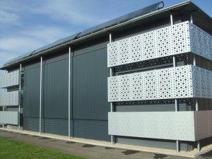 Gymnase équipé de la technologie SolarWall