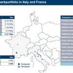 Les parcs solaires et fermes éoliennes de Capital Stage AG en France et en italie