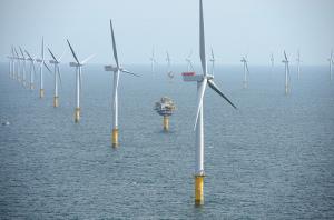 Parc éolien de Sheringham Shoal, en mer du Nord , aux larges des côtes du Royaume-Uni. (Crédit :  NHD-INFO, Flickr)