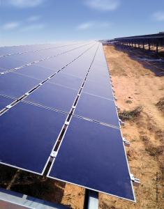 Une ferme solaire de Fonroche au Rajasthan. (Crédit : Fonroche)