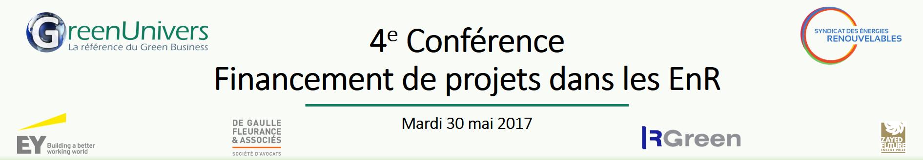 4e conférence GreenUnivers - SER Financement de projets EnR : la loi du marché