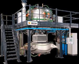 Four à fusion de silicium d'ECM Technologies. (Crédit : ECM Technologies)
