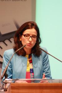 Hélène Valade, directeur du développement durable, Suez Environnement. (Crédit : Anne-Claire Poirier)