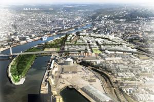 Le projet d'éco-quartier Flaubert de Rouen. (Crédit : Communauté de l'agglomération de Rouen Elboeuf Austreberthe)
