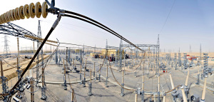 Une sous-station HDVC de 600 MW en Arabie Saoudite. (Crédit : Alstom Grid)