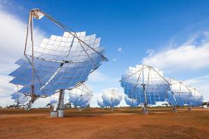 Solar Systems a déployé 40 miroirs pour le démonstrateur d'1,5 MW sur le site de Mildura en Australie; (crédit : Solar System)