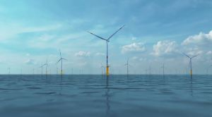 Simulation 3D du parc éolien de Butendiek, développé en mer Baltique, par WPD offshore. (Crédit : WPD offshore)