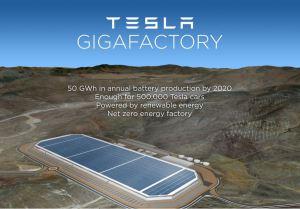 Plan de la méga-usine de Tesla. (Crédit : Tesla)