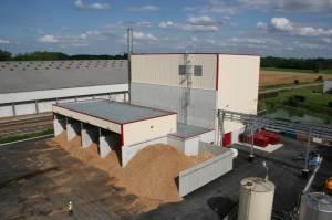 Installation biomasse de 13,4 MW chez Dislaub à Buchères (Aube) (Crédit : DR)
