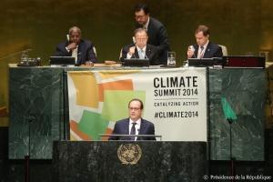 François Hollande, à l'ONU. (Crédit : Présidence de la République)