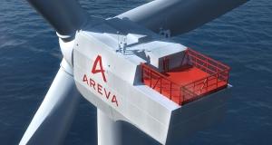 AREVA 8 MW turbine. AREVA Wind. Artist's rendering.