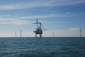 Installation des éoliennes en mer. (Crédit : wpd offshore)