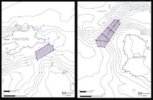 Les zones propices du Fromveur et du Raz Blanchard (Source : Ademe)