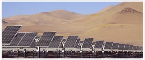 Le parc d'Amenecer de 100 MW dans le désert d'Atacama. (Crédit : SunEdison)