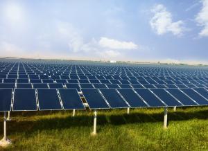 Un parc solaire développé par Welspun. (Crédit : Welspun)