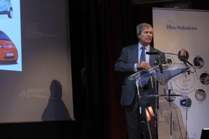 Vincent Bolloré, le 28 janvier à Paris. (Crédit : EJ)