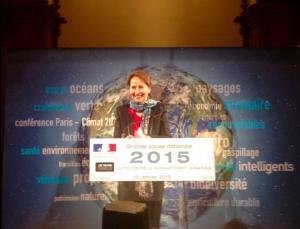 Ségolène Royal, lors de ses vœux aux acteurs de l'environnement le 15 janvier. (Crédit : ministère de l'Ecologie)