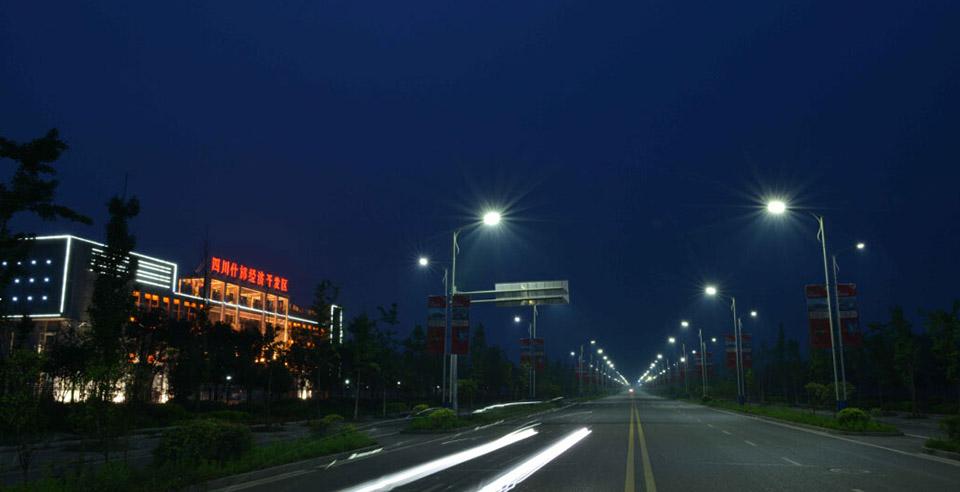 Un exemple d'éclairage Led réalisé par Shenan Group à Pékin. (Crédit : Shenan Group)