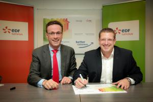Grégoire Dallemagne (à gauche) et Stéphane Dauvister (à dr.) (Crédit : EDF Luminus)