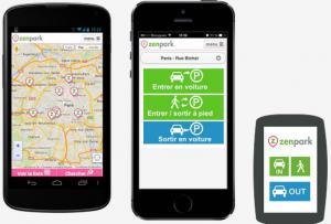 L'application Zenpark est disponible sur smartphone. (Crédit : Zenpark)