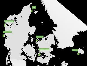 La localisation des six zones maritimes.? (Crédit  : Agence danoise de l'énergie)