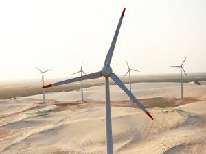 Un parc éolien au Brésil. (Crédit : Wind Power Works)