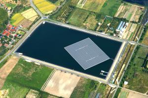 Centrale solaire flottante de Yasugi au Japon. (Crédit : Ciel & Terre)