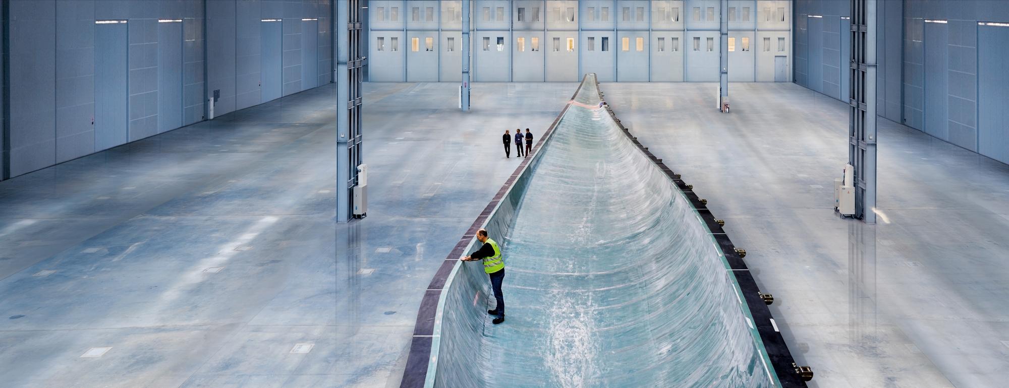 Usine de pâles de Siemens. (Crédit : Siemens)