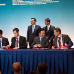 Signature de l'accord à Toulouse le 2 juillet (copyright Demeter)
