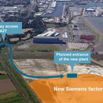 New wind power plant in Cuxhaven, Germany