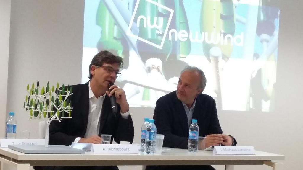 Arnaud Montebourg et Jérôme Michaud-Larivière (Crédit : Anne-Claire Poirier)