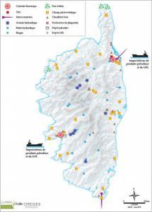 Système énergétique de la Corse 2014 (source : OREGES de Corse)
