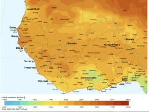 Potentiel solaire Afrique de l'Ouest