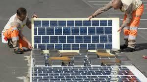 Route solaire dalle