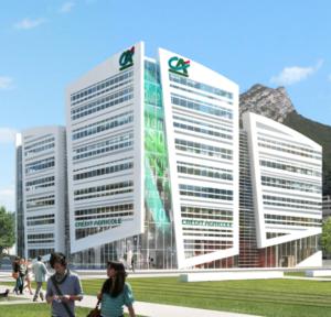 Projet du siège social du Crédit Agricole Sud-Rhône Alpes