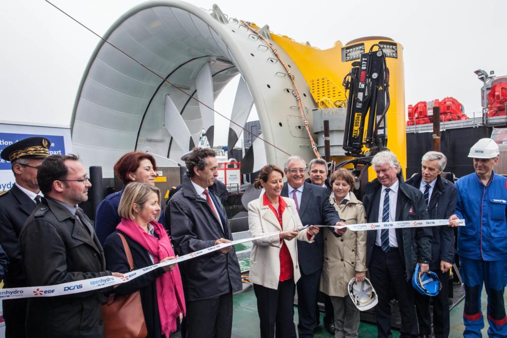 Inauguration de la 2 ieme hydrolienne Edf -DCNS à Brest