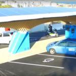 En Corse, le parasol solaire recharge les voitures