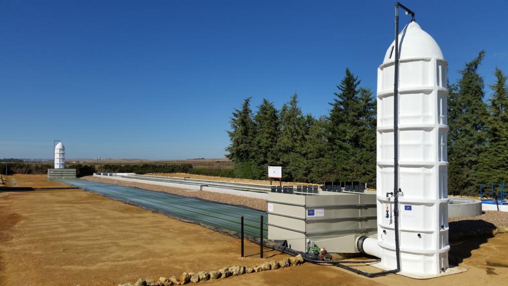 Prototype de réutilisation des eaux usées, à Séville (Crédit : Helio Pur Technologies)