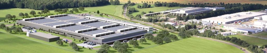 Daimler beginnt mit dem Bau einer zweiten Batteriefabrik bei der ACCUMOTIVE am Standort Kamenz. Die Produktions- und Logistikfläche wird mit der neuen Fabrik auf rund 80.000 m2 vervierfacht. ; ;