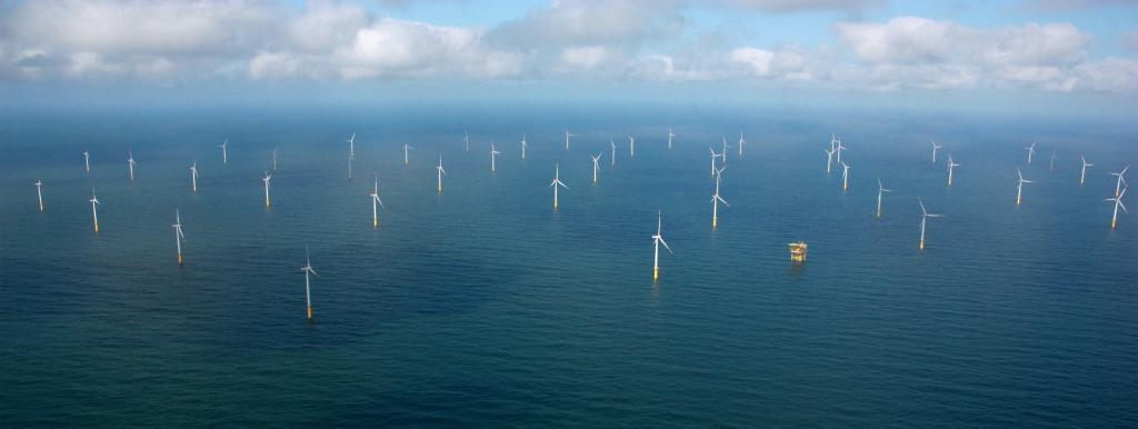Parc éolien en mer de Butendiek, développé par WPD en Allemagne (Crédit : Anne-Claire Poirier)
