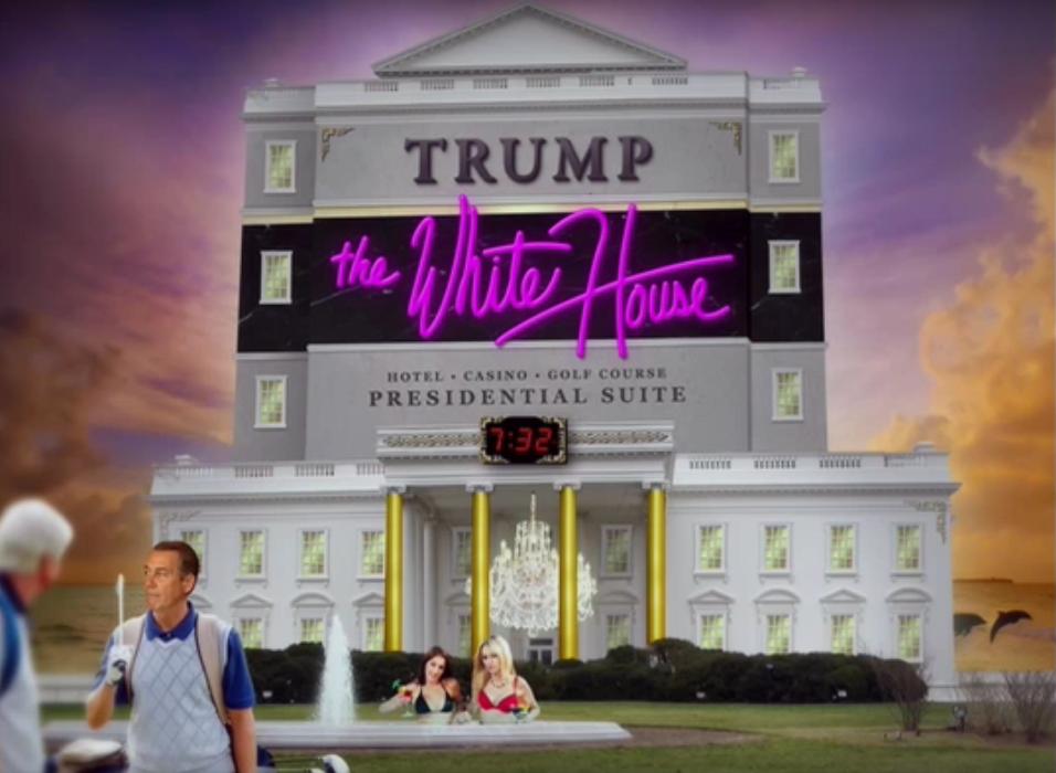 La Maison Blanche occupée par Donald Trump, d'après un sketch de Barack Obama