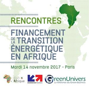 Rencontres Financement de la transition énergétique en Afrique