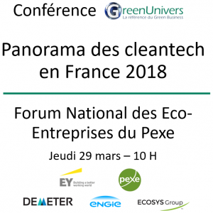 Conférence Panorama des cleantech en France 2018